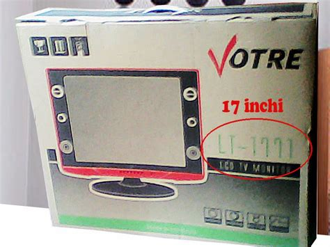 Tv Lcd Votre 17inc kedai wahyu votre 17 inch lcd tv monitor usb