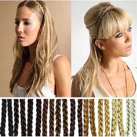 fashion icon plaited hair 2pc wholesale fashion synthetic hair plaited elastic