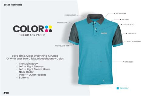 Collar T Shirt Template Psd by Photorealistic Custom Polo Shirt Template Psd