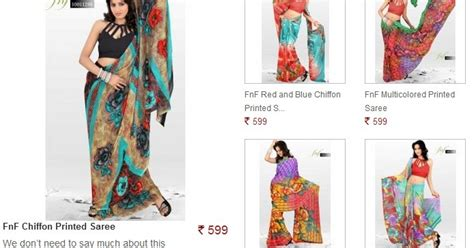 sarees flipkart prize buy chiffon printed saree worth rs 799 at just rs 399