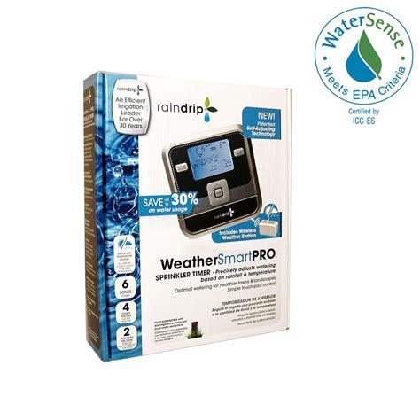 raindrip weathersmartpro 6 station electronic water timer