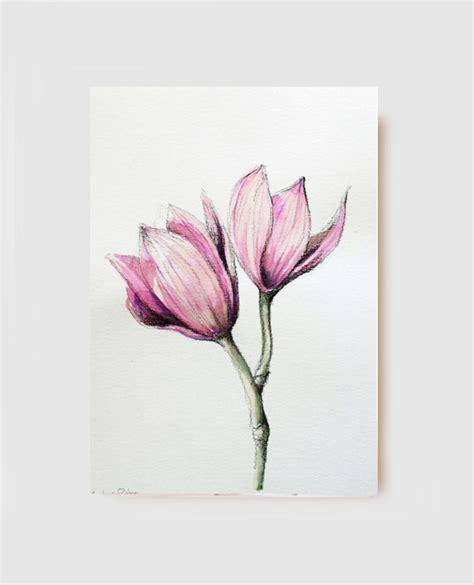 fiori disegni a matita articoli simili a disegno a carboncino originale orchidee