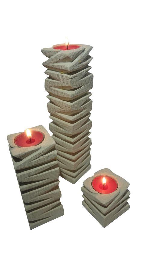 candele scolpite tris di porta candele in pietra leccese medio candele e
