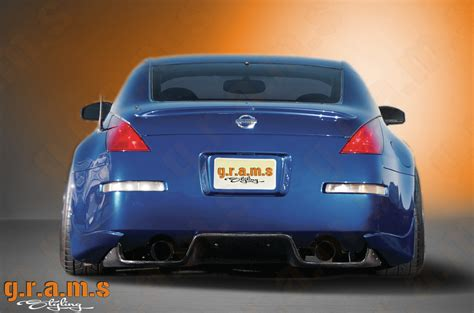 nissan 350z diffuser nissan 350z top secret style diffuser type3 gramsstyling