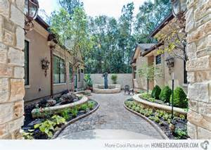 With the house design as well as the stone flooring simple courtyard