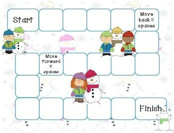 free printable winter board games game board with winter theme science winter pinterest