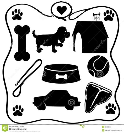 puppies and stuff stuff silhouettes stock photo image of animal puppy 32056340