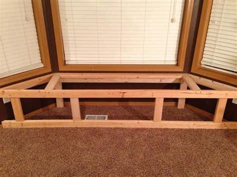 bay window bench seat  storage recipe