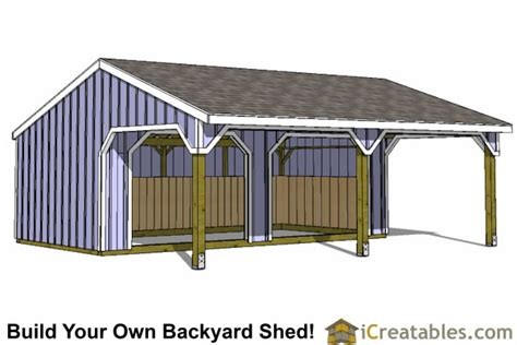 Building Small Barns Sheds Shelters Run In Shed Plans Building Your Own Horse Barn Icreatables