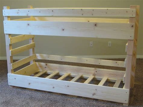 Simple Bunk Bed Plans Diy Bunk Beds Toddler Diy Bunk Bed Plans Fits Crib Size Mattresses Or Ikea Vinka