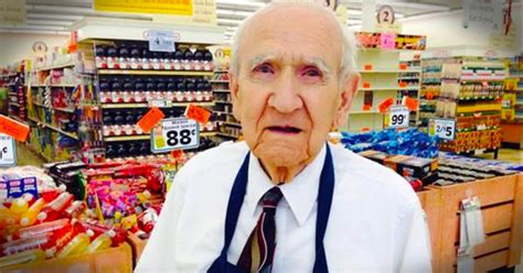 94 year grocery store bagger gets a