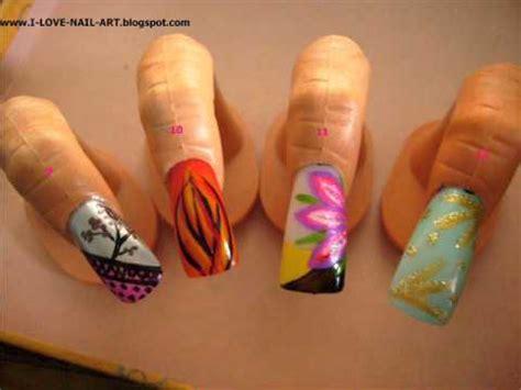 20 mini nail art tutorials youtube vote 4 tutorial 20 hand painted nail art designs youtube