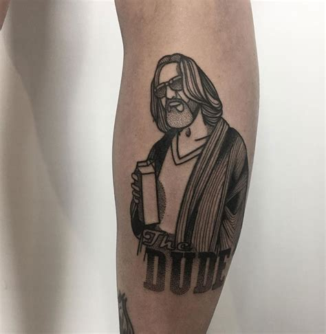 dude tattoo the dude jeff bridges from the big lebowski best