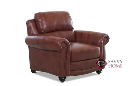 roslyn recliner quick ship roslyn leather chair in alta walnut by savvy