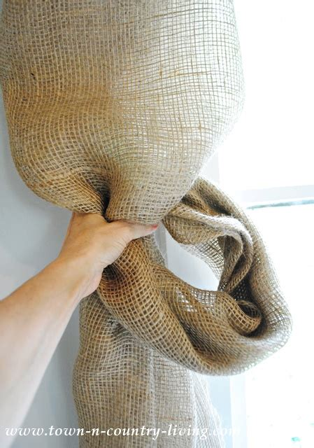 how to make burlap curtains no sew landscape burlap swag curtains town country living