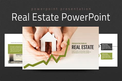 Real Estate Powerpoint Template Presentation Templates Creative Market Powerpoint Real Estate Templates