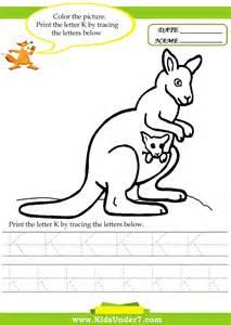 7 alphabet worksheets trace and print letter k