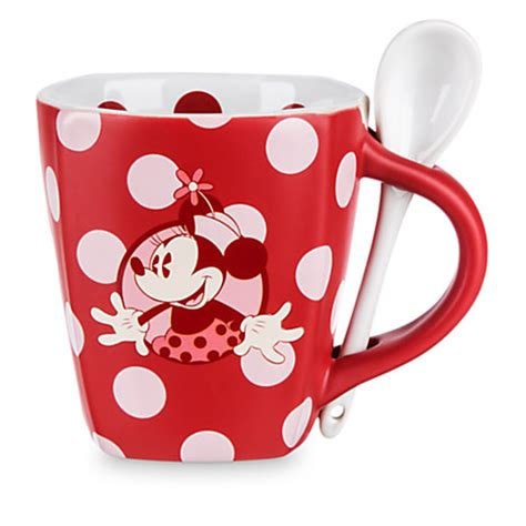 Mug Souvenir Polkadot your wdw store disney mug coffee cup minnie mouse