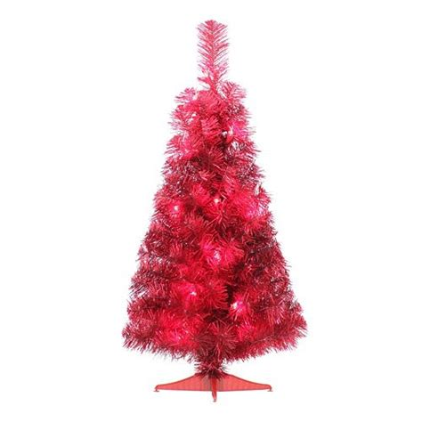12 ft red christmas trees 2 ft pine pre lit artificial tree 7 92 from 22