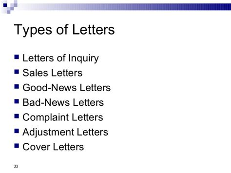 Types Of Business Letter Inquiry business communication chap 2 business writing