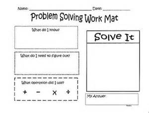 problem solving template problem solving template for math ed