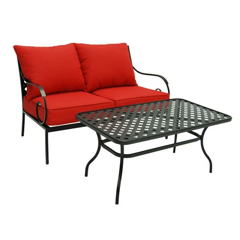 Steel Patio Furniture Shop Garden Treasures Yorkford Yorkford 2 Steel Frame Patio Conversation Set At Lowes