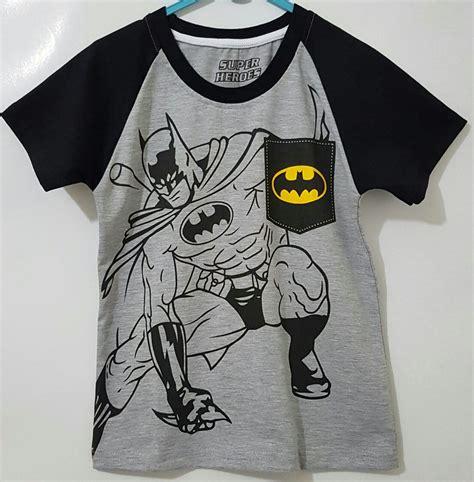Kaos Anak Batman Kaos Raglan Anak kaos anak karakter grosir kaos raglan anak karakter