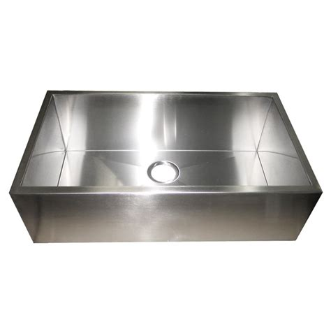 32 inch stainless steel flat front farm apron single bowl