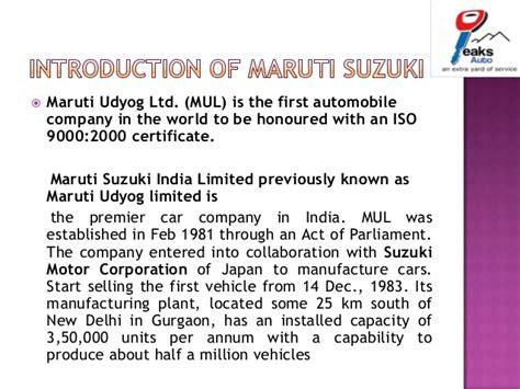 Maruti Suzuki India Customer Care Number Presentation On Customer Satisfaction