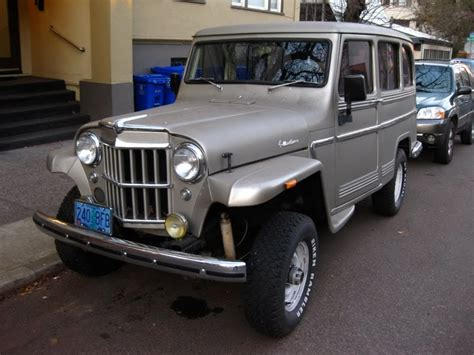Jeep Station Wagon Parked Cars 1963 Willys Jeep Overland Station Wagon