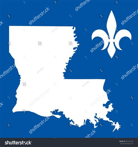 louisiana id template louisiana usa state map fleur de stock vector 281345138