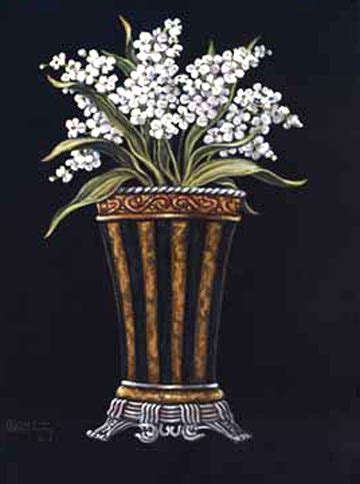 Classical Vase by Classical Vase With Flowers Ii By Janet Krusk