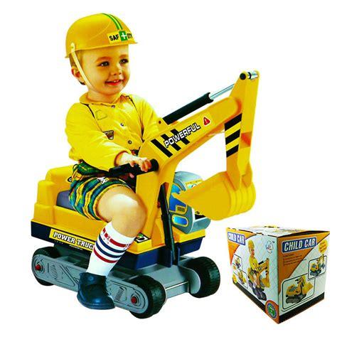 Mainan Truk Konstruksi baru naik mobil anak anak berpura pura bermain excavator penggali konstruksi truk pasir mainan