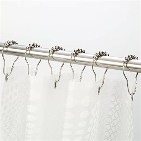 rust proof shower curtain hooks save 71 shower curtain hooks amazer metal silver
