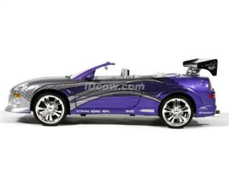 purple mitsubishi eclipse spyder 2 fast 2 furious toy car die cast and wheels