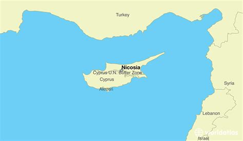 middle east map nicosia where is cyprus where is cyprus located in the world