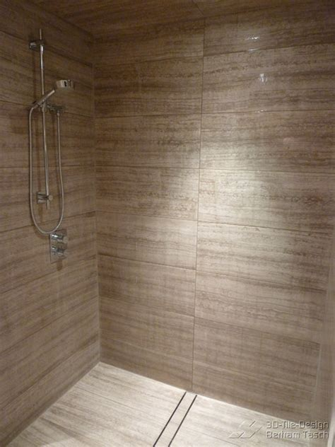 Barrier Free Curbless Rain Shower Coquittlam Modern Modern Bathroom Tile Design Images