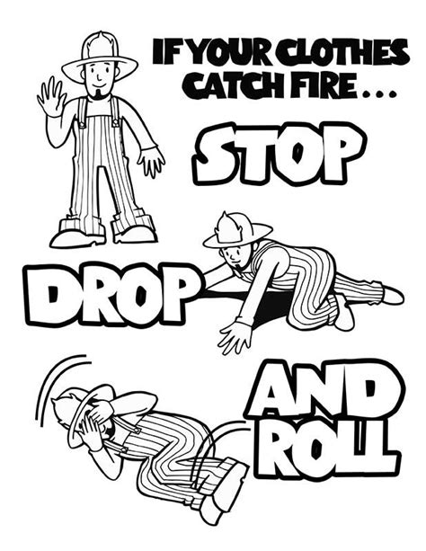 free coloring pages of fire safety