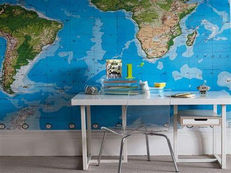 world map wallpaper  study room walls swiftmapscom