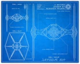 knerdkraft wars blueprint style tie fighter