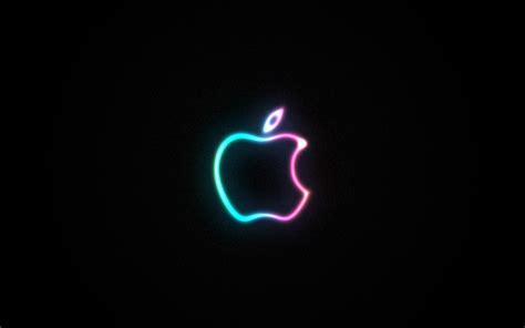 wallpaper apple neon neon apple wallpaper 37775