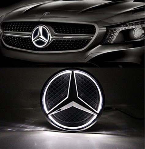 all star auto lights cszlove car front grilled star emblem led illuminated logo