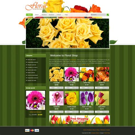 House Design Online Free Template 385 Floral Shop