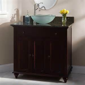 36 quot cordova cherry vessel sink vanity bathroom