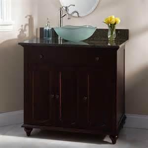 36 quot cordova cherry vessel sink vanity bathroom