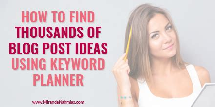 Find Blogs How To Find Thousands Of Post Ideas Miranda Nahmias