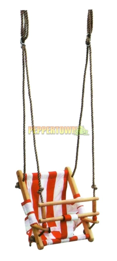 canvas baby swing canvas baby swing my first swing red by peppertown