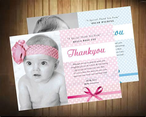 baptism thank you card template free 22 christening thank you cards free premium templates