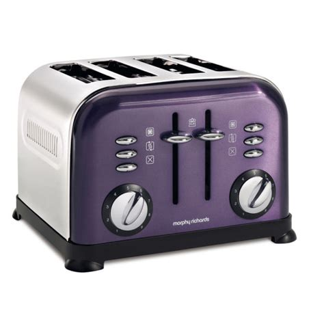 Accents Toaster morphy richards 4 slice accents toaster plum homeware thehut