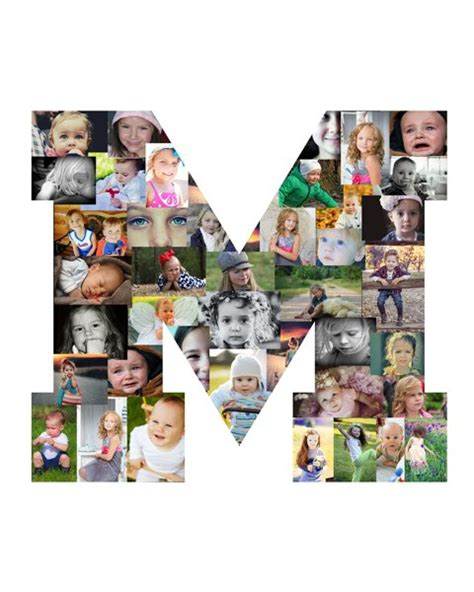 Letter Collage Maker letter quot m quot photo collage creative photo collage maker